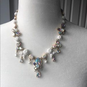 J Crew Floral Crystal/Rhinestone  Necklace